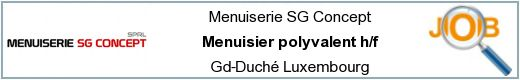 Job offers - Menuisier polyvalent h/f - Gd-Duché Luxembourg